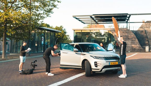 BAckstage commercial range rover