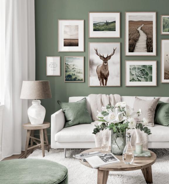 Groen kan mooi en chique staan in combinatie met de juiste lijsten en kussens